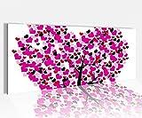 Acrylglasbild 100x40cm Liebe Baum Herz Blumen rosa abstrakt Schlafzimmer Acrylbild Acryl Druck Acrylglas Acrylglasbilder 14A8681, Acrylglas Größe1:100cmx40cm
