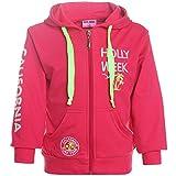 MISS IMAGE Kinder Mädchen Hoodie Pullover Jacke Kapuze Sweatshirt 21427, Farbe:Pink;Größe:104