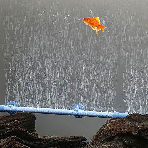 Decdeal Aquarium Röhrenform Blase Wand Fisch Tank Luftstein Ausströmer mit Saugnapf Größe Optional