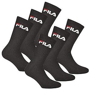 Fila 6 Paar Socken, Frottee Tennissocken mit Logobund, Unisex (2 x 3er Pack)