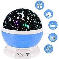 lederTEK, LED Baby Nachtlicht mit USB Kabel Batteriebetrieben Sternenhimmel Sternhimmel 4 LED 360 Grad