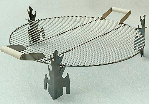 Grill-Aufsatz aus Edelstahl D 63 cm Grillzubehör passend zu Schalen D 63 cm