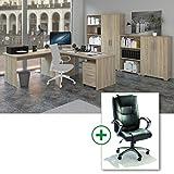 Arbeitszimmer 9-teilig - Möbel Komplett Set Phoenix in Sonoma Eiche