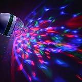 Oyedens E27 3 Watt AC220V Bunte Drehbare Bubble Bühne Licht Disco DJ Party Lichtleiste KTV Beleuchtung Lampe LEDs Globe Lichterkette, LED lichterkette bunt, Globe String Licht Sternenlicht, Innen- und Außen Deko Glühbirne (A, Weiß)
