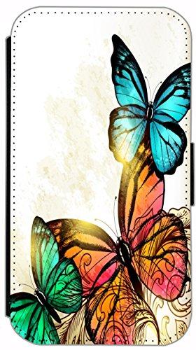 Kuna Flip Cover für Apple iPhone 5 / 5s Design K484 Pferd Hengst Schwarz Hülle aus Kunst-Leder Handy Tasche Etui mit Kreditkartenfächern Schutzhülle Case Wallet Buchflip Rückseite Schwarz Vorderseite  K471