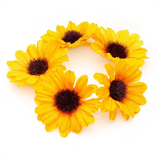 Daisy Blume Girlande Haargummi Dutt Ring Elastic Hair Band (gelb). (Daisy Band)