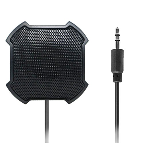 Boundary omnidirektional Kondensator Mikrofon, 3,5 mm Stecker Stereo Desktop Mic Oberfläche montiert Mikrofon für teleconferencing and Skype, Meetings und Desktop-Computer Verwenden – Schnur: 4,6 FT, Artikel: 5,1 x 5,1 x 2,5 cm