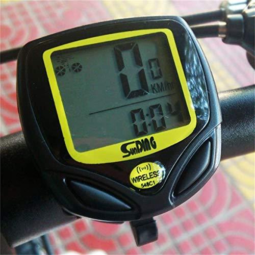 Delicacydex Wasserdichtes drahtloses Plastikfahrrad, Das Sport-Fahrrad-Computer-Geschwindigkeitsmesser-Kilometerzähler mit LCD-Anzeige radfährt - 3
