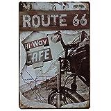 Carteles vintage metálicos de Ruta 66...