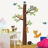 denoda Messbaum mit Tieren - Wandsticker (Wandsticker Wanddekoration Wohndeko Wohnzimmer Kinderzimmer Schlafzimmer Wand Aufkleber)