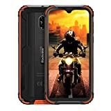 Blackview BV5900 Télephone Incassable Débloqué, MT6761 Quad-Core, 5,7 Pouces HD+, Batterie 5580mAh, 3Go+32Go, Android 9.0 Smartphone, Double Caméra 13MP, IP68 Etanche, Dual SIM 4G, NFC,Type C-Orange