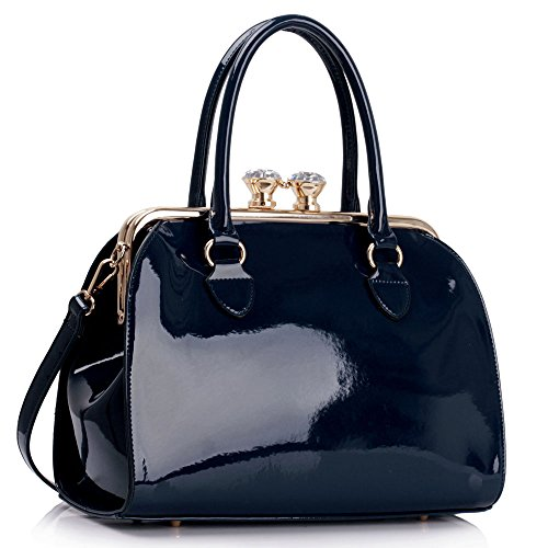 Ladies-Patent-Satchel-With-Metal-Frame-Bags-Womens-Hot-Selling-Fashion-Designer-Tote-Handbags-CWS00378