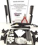 Extension dei capelli calore connectorbond KIT APPLICAZIONE E Kit di rimozione F0R PRE INCOLLATI Punta unghie capelli