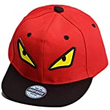 THENICE Kind Hip-Hop Cap Baseball Kappe Hut (Monster Rote)