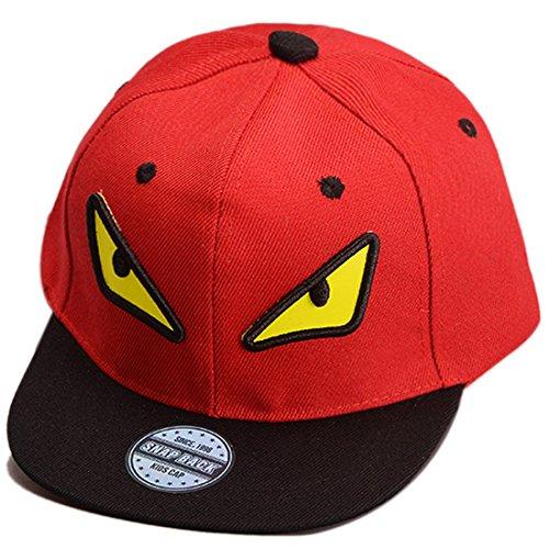 THENICE Kind Hip-Hop Cap Baseball Kappe Hut (Monster Rote)