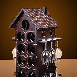 MAGAI Stapelbare Weinregal Holz Kapazität Lagerung 14 Flaschen für Vino Bars Keller Countertop Apartment Möbel, Urban Living (Size : Small)
