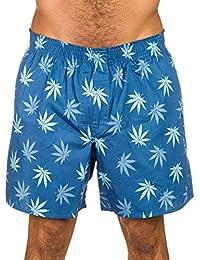 Huf Plantlife Mens Boxer Shorts Blue