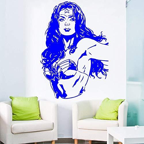 Wandtattoo Vinyl Aufkleber Wonder Woman Cartoon Comic Für Kinder Spielen Schlafzimmer Wohnzimmer Dekor Haus DIY Design Poster 57x81 cm - Wonder Woman-poster