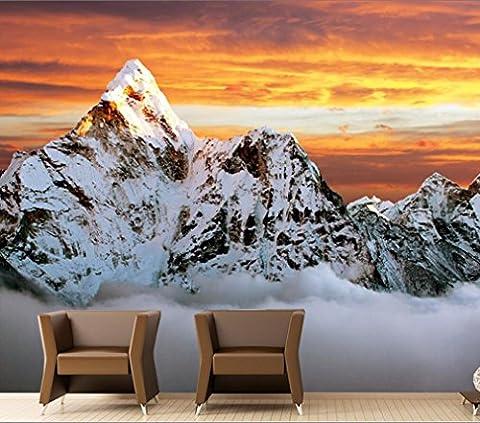 Lwcx Jin Xueshan Paysage Du Mont Everest Le Papier Peint 3D Salon Canapé Chambre Tv 3D Arrière-Plan 3D Wallpaper Caractère Grande Murale