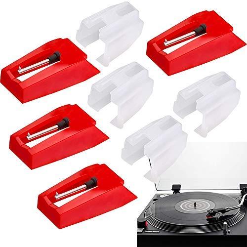 4Pcs Aiguille Diamant de Remplacement pour Tourne Disque PM Disques Vinyle LP Audio Platines Vinyle Lecteur Pièce de Rechange