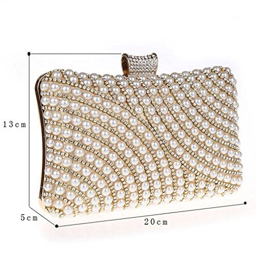 Le nuove borse moda pacchetto di diamante perla sera borsa banchetto borsa della borsa dolce sposa ( Colore : Nero ) Viola
