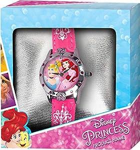 PRINCESAS- Reloj de Pulsera Aloy Corazones Caja Regalo (WD19642), (Kids Licensing 1)