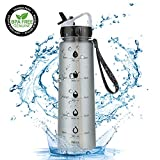 Laluztop Sport Water Bottle 900ml ,Leak Proof Sports Bottle , With Straw
