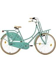 KS Cycling Damen Hollandrad Tussaud 3-Gang mit Frontgepäckträger Rh 54 cm Fahrräder
