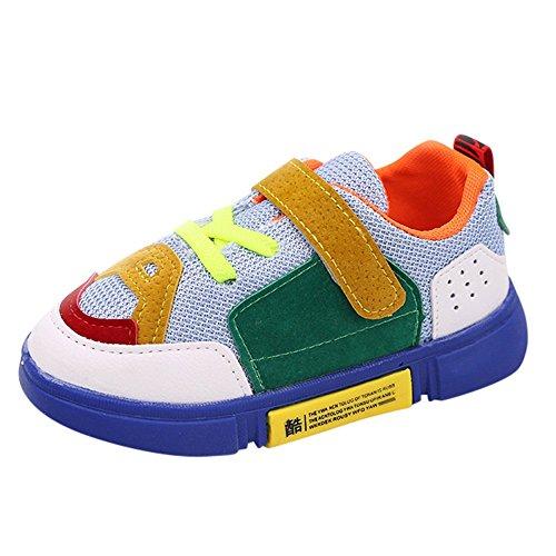 Ginli scarpe bambino,Scarpe Primi Passi Scarpine Neonato Sneakers Bambino Scarpe Sportive Bambino Bambini Kid Boys Gilrs Mixed Colours Patch Mesh Sport Running Scarpe Casual