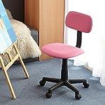 FurnitureR Teens Children Kids Armless Computer Desk Chair Ergonomic Study Chair, Pink Fabric