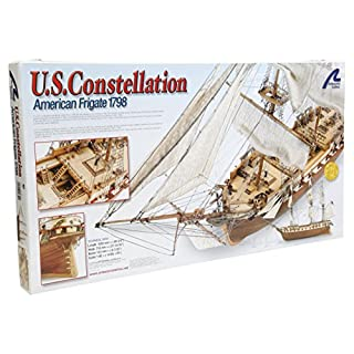 Holzbootmodell: US Constellation 1/85