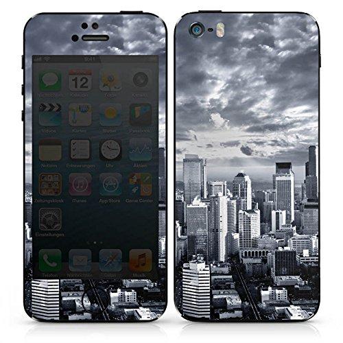 Apple iPhone SE Case Skin Sticker aus Vinyl-Folie Aufkleber Skyline Stadt New York DesignSkins® glänzend