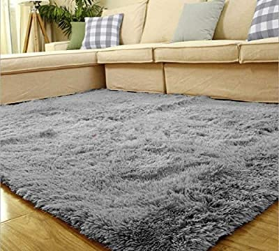 Yontree Anti-skid Living Room Soft Carpets Floor Mat Shaggy Area Rug