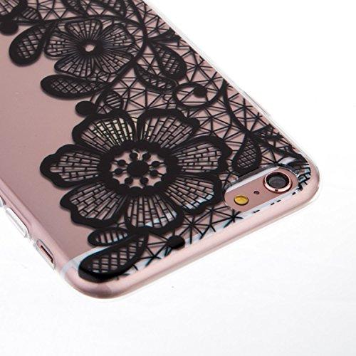 iPhone 6S Plus Coque,iPhone 6 Plus Bling Case,iPhone 6S Plus Cover - Felfy Ultra Mince Slim Gel TPU Silicone élégant Ultra Thin Bling Plating Case Coque Bumper Cas Housse pour Apple iPhone 6 Plus /6S  Trois Fleurs