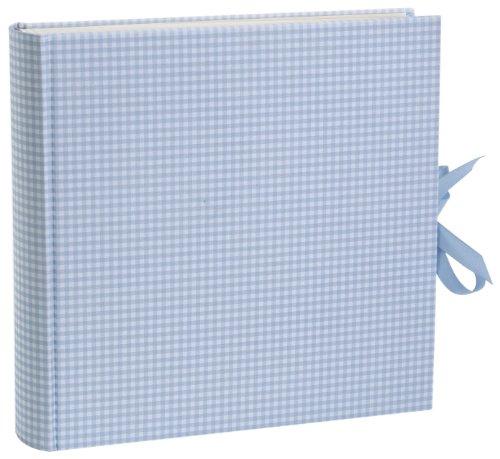 semikolon-album-xlarge-vichy-hell-blau-weiss-blau-kariert-foto-album-mit-80-seiten-und-buchleinen-be