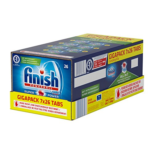 Finish All in 1 Quartalspack, Spülmaschinentabs für 3 Monate, Gigapack, 182 Tabs