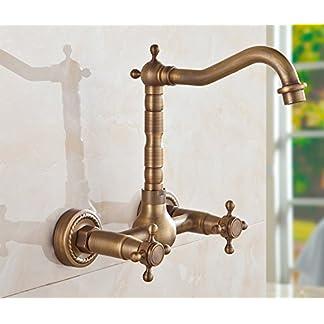 513kMPLRJTL. SS324  - Todo el cobre ChengZi antique baño, cocina multifuncional grifo caliente y frío, de tipo mural rp piscina, depósito de agua del grifo