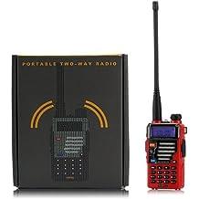 Baofeng UV-5R Plus radio portátil roja
