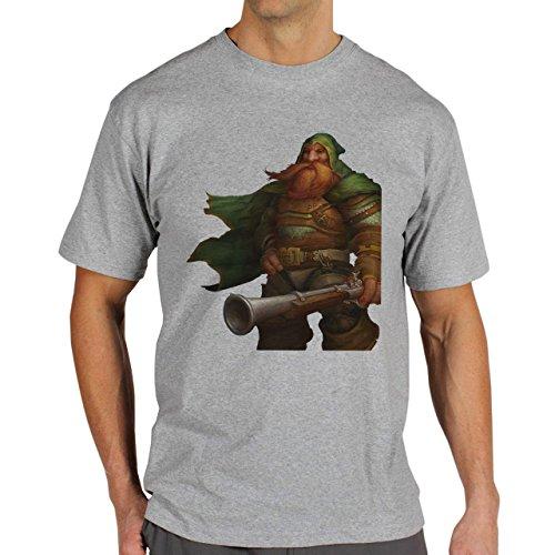 World Of Warcraft Heroes Blizzard Dwarf Herren T-Shirt Grau