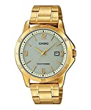 Casio MTP-VS02G-9A Men's Solar Powered Gold Tone Gold Dial Date Analog Watch