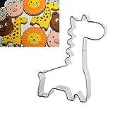JUNGEN Edelstahl Kinder Giraffe Keksausstecher Ausstecher Ausstechformen Kuchenform Deko Kuchen verziert Fondant Schneider Werkzeug