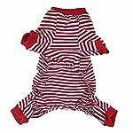 Doggie Style Store Red Striped Dog Pet Cat Pyjamas Sailor Anchor Pajamas Jumpsuit Nightwear Onesie Suit Size S 9