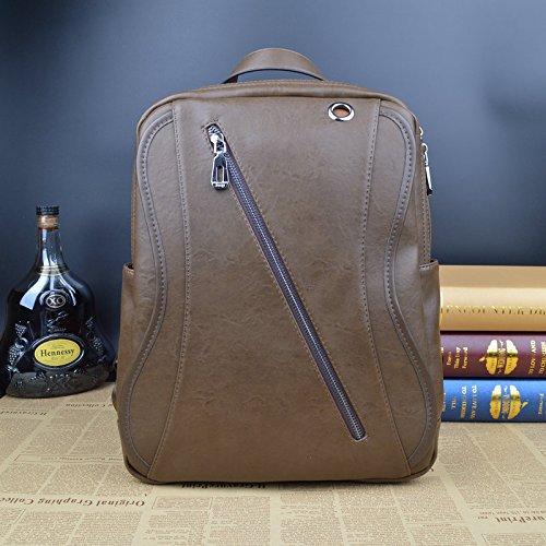 Meoaeo Leder Rucksack, Taschen Für Männer, Mode Army green