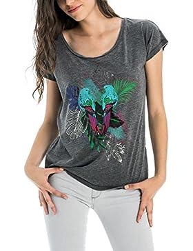 Salsa Camiseta con Encaje en la Espalda