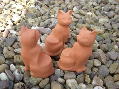 Terracotta Cat Pot Feet (Set Of 3)