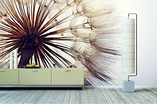 """Tableaux-XXL® Papier-peint intissé photo """"Pissenlit"""" 420x280cm - papier-peint de qualité supérieure en 6 formats différents pour salon, bureau ou chambre - Papier-peint intissé"""