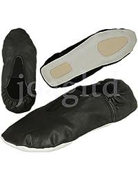 Swallowuk - Zapatillas de danza de poliéster para hombre negro Negro 37