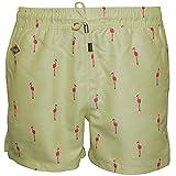 Shorts De Bain Nikben Flamingo Masculine, Citron