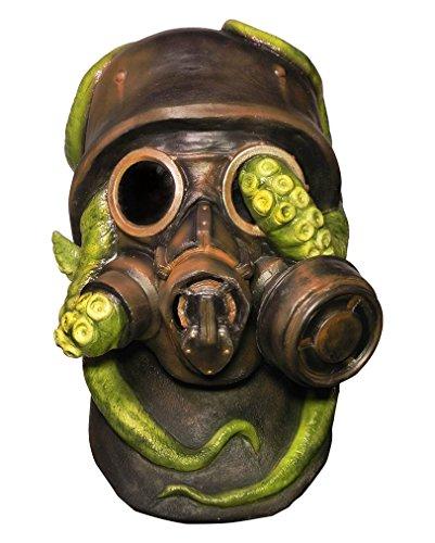 Halloween Gasmasken Mit Kostüme (Kriegs Soldat Gasmaske Atemschutz mit Krake für Halloween & Karneval)