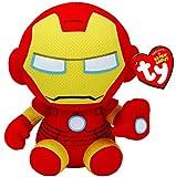 TY Beanie - Iron Man, Gamme Marvel Environ 6', Peluche Parfaite!